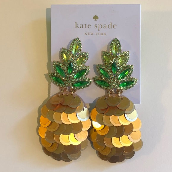 93581d59d446c 🍍Kate Spade ♠️ by the pool statement 🍍 Earrings! NWT